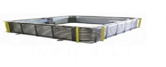 Rectangular metal expansion joint pisaflex